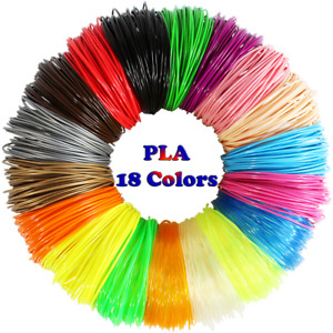 3D Pen Filament Refills(18 Colors,10 Feet Each) Total 180 Feet,Pla Filament 1.75