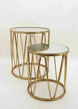 Set of 2 Gold Side tables / lamp tables