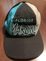 Vintage Florida Marlins Starter Adjustable Snapback Baseball Hat Cap
