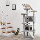 """Tall Cat Tree Cat Condo Tower 55"""" for Big Cats Scratching Posts Plush Perch Toy"""