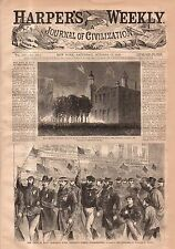 1868 Harpers Weekly October 17 - Small island KS indian attack;Princeton College