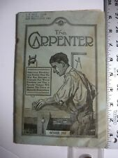 The Carpenter Pamphlet, 10/1918. Indianapolis. Illustrated. AB75