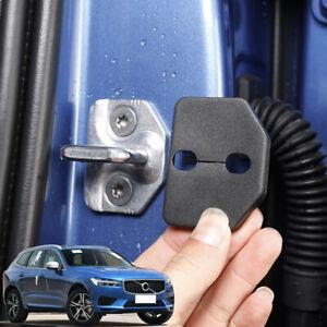 For Volvo XC60 2018-2019 Black plastic Door Lock Protective Striker Cover 4pcs