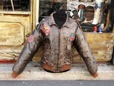 Giubbotto giacca pelle aviatore top gun type B3 flight jacket tg XL