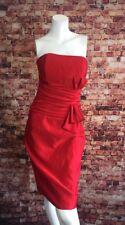 Scott McClintock Red Strapless Sheath Dress Size 6