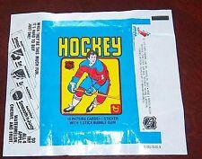 Hockey wax pack wrapper NHL 1979-80 Topps Wayne Gretzky Rookie Bazzoka AD