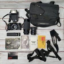 Vintage Canon A-1 A1 Camera Bundle FD 50mm Vivitar 35-200mm Speedlite power