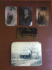 Billy the Kid Lot of 5 historical museum quality reproduction tintypes