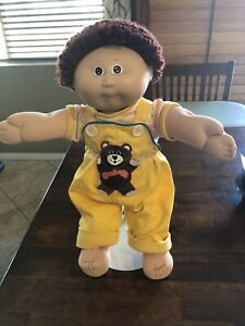 Original Cabbage Patch Doll Rare Yellow Teddy Overalls