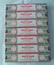 Satya Sai Baba White Sage 100 Grams Incense Sticks (Smudge, 100 g) 7 x 15 gm