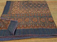 KING Beautiful Kantha King Size Quilts Throw Blanket Reversible Quilt 009