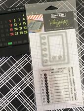 Kelly Purkey PLANNER CALENDAR To Do List 13 Clear Stamps+2 Die-Cuts JOURNAL LINE