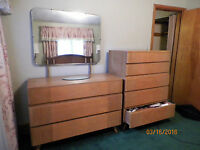 vintage 1950's R-WAY Blonde Birdeye Maple mid century bedroom set