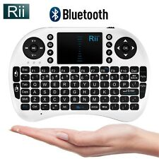 Rii i8BT Mini Wireless Keyboard With Touchpad Bluetooth Slim Design WHITE 10036