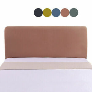Headboard Cover Elestic Bed Head Protector Washable Bedside Slipcover Pure Color