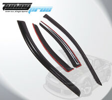 Dark Smoke Rain Visor Deflector 4pcs Out-Channel For Volvo S60 2001-2011