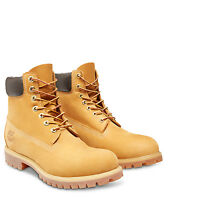 Timberland Mens 6-Inch Premium Wheat Lace up Waterproof Leather Boots 10061