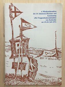 Festschrift 4.Wiedersehensfeier der 35.Infanteriedivision 1972 in Karlsruhe