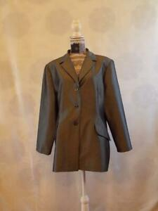 Sara Neal Jacket Blazer size 20     Long Sleeve  Silver