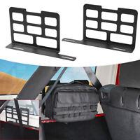 Auto Trunk Interior Metal Rack Storage Shelves For 2018 2019 Jeep Wrangler JL