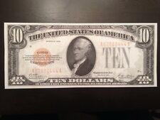 Reproduction Copy United States Currency $10 Bill 1928 Gold Certificate Hamilton