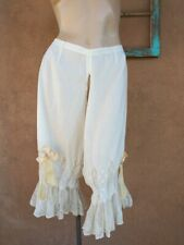 Vtg Antique 1890s Split Bloomers Victorian Lace Pantaloons Sz L xL
