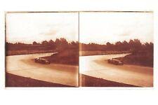 Course automobile Voiture ancienne France Plaque de verre Stereo Vintage 7x13 cm