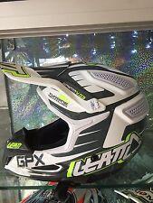 Leatt Gpx 5.5, Negro/Blanco/Lima, Casco MX/Motocross/Enduro/MTB, ACU Oro Sello