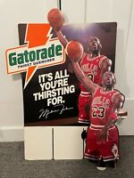 Vintage 1991 Michael Jordan Gatorade Cardboard Store Advertising Cut-Out - Rare!