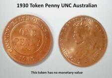 1930 Token Australian Penny UNC Australian