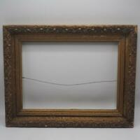 "Vintage 14""x18"" Painted Gold Wood Picture Frame"