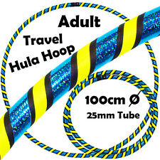 PRO Hula Hoops (Ultra-Grip/Glitter Deco) 3 COLOUR Weighted TRAVEL Hoola Hoop