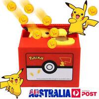 Pokemon Pikachu Moving Electronic Coin Money Piggy Bank Savings Box 4C