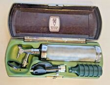 Vintage Welch Allyn Otoscope Opthalmoscope Set With Bakelite Case Skaneateles Ny