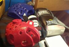 Taekwondo Sparring Set of Shin Pads, Head Guards, & Gloves