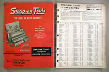 "Snap-On Tool CATALOG ""W"" - 1958 ~~ with its Price List ~~ tools"