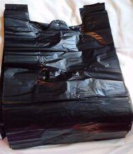"50-Pack 12"" x 15"" Biodegradable Black Plastic Poly Bags Trash Liners Dog Poop"
