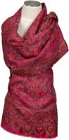 Kani Schal Pink scarf 100% Wolle, wool écharpe laine lana sciarpa Floral