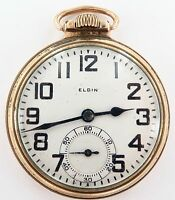 .*PRICED TO SELL !! 1924 ELGIN B W RAYMOND 16S 21J 12K GF POCKET WATCH, WORKING.
