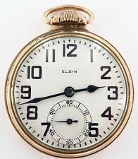 .*PRICED TO SELL !! 1924 ELGIN B W RAYMOND 16S 21J 12K GF POCKET WATCH, WORKING.