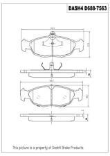 Disc Brake Pad Set-Base Rear,Front Dash 4 Brake MFD688