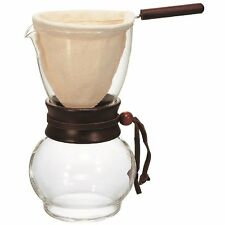 New! Hario Cloth Drip Pot Pour Over Wooden Neck Coffee Maker 480ml Japan Import