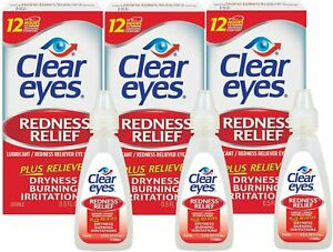 Clear Eyes, Redness Relief Eye Drops, 0.5 Fl Oz (15 mL) (Pack of 3)