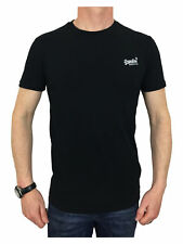 Superdry camiseta T-Shirt hombre naranja etiqueta Vintage EMB Tee negro L