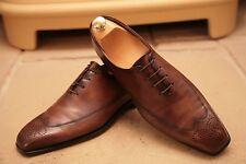 Berluti Hombre Cuero Marrón Hecho A Mano Estilo Zapatos Reino Unido 8.5