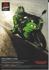 an Original 2009 Magazine Advertisement for the Kawasaki ZX-6R Ninja