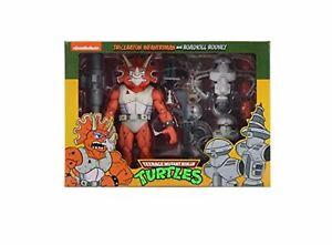 "TMNT Cartoon Triceraton Infantryman & Roadkill Rodney 2 PK 7"" Action Figures"
