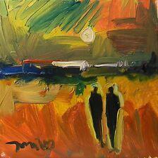 JOSE TRUJILLO ORIGINAL Oil Painting Abstract Post Impressionist 10X10 Sunset ART