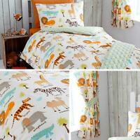Safari Duvet Covers Zoo Animals Lion Tiger Giraffe Kids Quilt Cover Bedding Sets