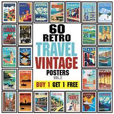 Vintage Travel Poster, Retro Wall Art Deco posters, Vol. 2